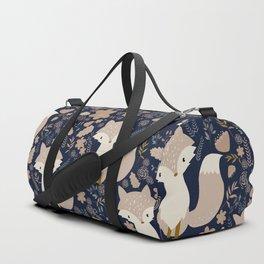 autumn and the fox Duffle Bag