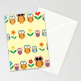 sweet owls patterns Stationery Cards