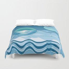 Sea Symphony in BLUE Duvet Cover