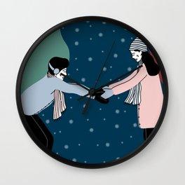 Ice Skating couple Wall Clock