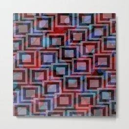 Black and White Squares Pattern 04 Metal Print