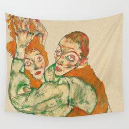 "Egon Schiele ""Lovemaking"" Wall Tapestry"