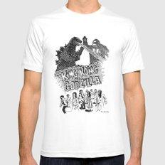 Godzilla .vs. King Kong MEDIUM White Mens Fitted Tee