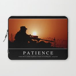 Patience: Inspirational Quote and Motivational Poster Laptop Sleeve