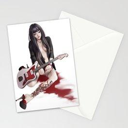 aGirl w/guitar&lilyTattoo Stationery Cards