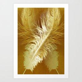 Golden Ostrich Art Print