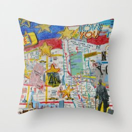 New York City Collage Throw Pillow