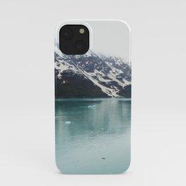 Hubbard Glacier Snowy Mountains Alaska Wilderness iPhone Case
