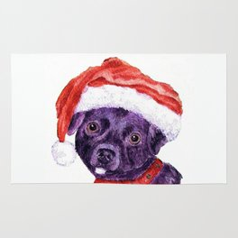 Christmas Chihuahua By Annie Zeno Rug