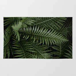 Tropical leaves 02 Rug