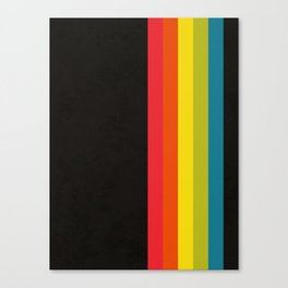 Retro Camera Color Palette Canvas Print