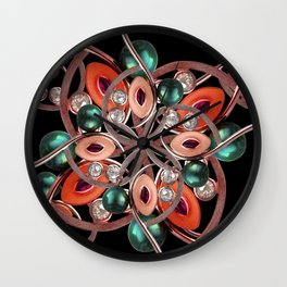 Luxury Collage Ornament New Noveau Artwork Wall Clock