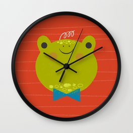 Dressy Froggy Wall Clock