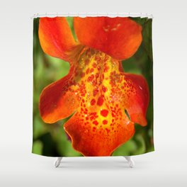 Orange spotted wildflower 97 Shower Curtain