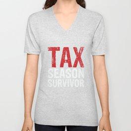 Tax Season Gift Unisex V-Neck