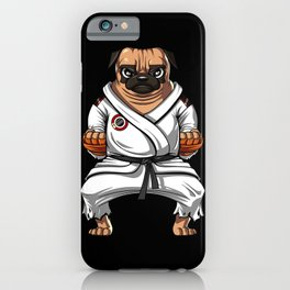 Karate Pug Dog Martial Arts Ninja iPhone Case