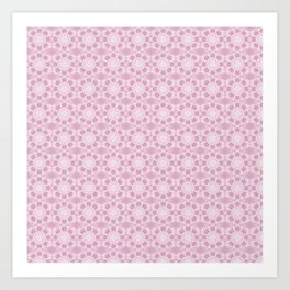 Project 503 | Whit Lace on Pink Art Print