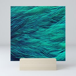 Teal Feathers Mini Art Print