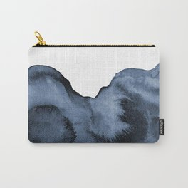 Watercolor Splash in Blue Carry-All Pouch