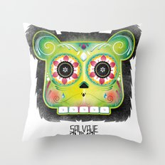 SALVAJEANIMAL DEADMex Throw Pillow