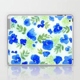 Floret (Blue) Laptop & iPad Skin