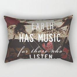Earth's Music Rectangular Pillow