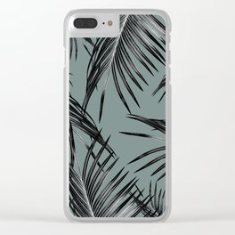 Black Palm Leaves Dream #4 #tropical #decor #art #society6 Clear iPhone Case