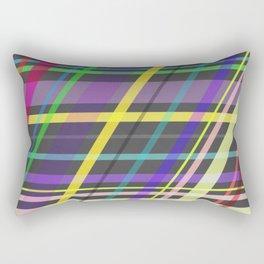 Purple Yellow Green Blue Summer Fun Trippy Crossing Lines Rectangular Pillow