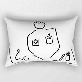 doctor with medicine utensils Rectangular Pillow