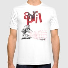 April 21 MEDIUM Mens Fitted Tee White