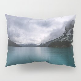 Landscape Photography Maligne Lake Mountain View | Turquoise Water | Alberta Canada Pillow Sham
