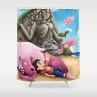 steven universe Shower Curtains featuring Steven Universe by toibi