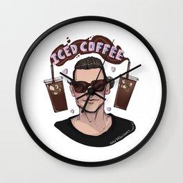 Iced Coffee Haz Wall Clock