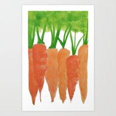 Kitchen Carrots Art Print