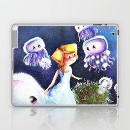 Jellyfish in the sky Laptop & iPad Skin