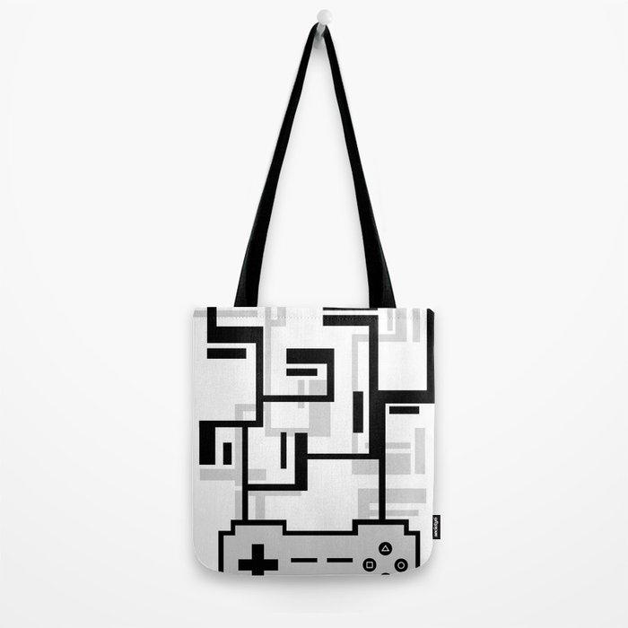 8-BIT JOYSTICK (GREY) Tote Bag