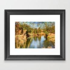 Down the river Framed Art Print