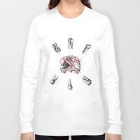 teeth Long Sleeve T-shirts featuring Teeth by Ilya kutoboy