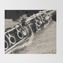 Clarinet Throw Blanket