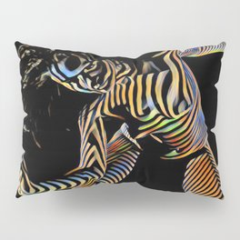 9911s-JPC Abstract Color Stripe New Art Nude Woman Pillow Sham