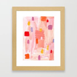 Put Sorrows In A Jar - abstract modern art minimal painting nursery Framed Art Print