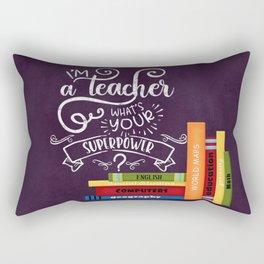 I am a teacher Rectangular Pillow