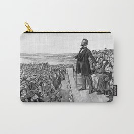 President Lincoln Delivering The Gettysburg Address Carry-All Pouch