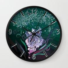 Wind tangle, blue Wall Clock