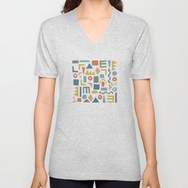 Colorful Shapes Unisex V-Neck