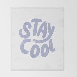 Stay Cool Vintage Lavender Throw Blanket