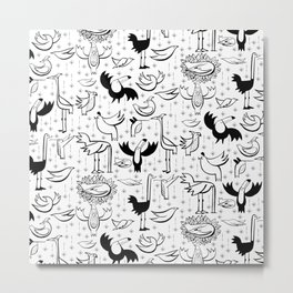 Glam Birds Metal Print