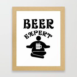 beer expert - I love beer Framed Art Print