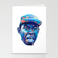 tyler the creator Stationery Cards featuring TYLER THE CREATOR: NEXTGEN RAPPERS by mergedvisible