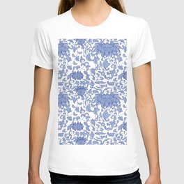 Chinoiserie Vines in Delft Blue + White T-shirt